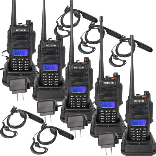 5 Pack Walkie Talkie For Group Use